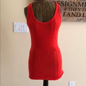Splits59 Ribbed Tank M Red